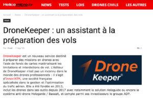 Helicomicro consacre sa une à dronekeeper