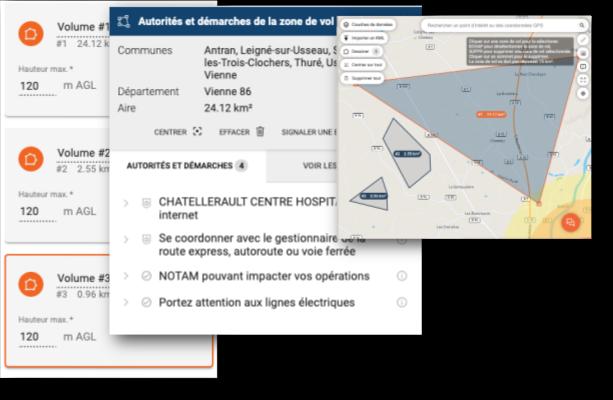 zones de vol mission drone